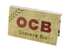 Lot de 10 paquets de 100 feuilles à rouler ocb double, chanvre bio organic