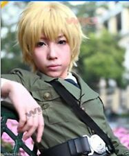 Axis Powers Hetalia England Short Golden Blonde Cosplay Wig + hairnet