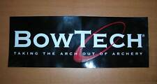 Two (2) BowTech Archery - Black Stickers / Decals - SHARP! - FREE SHIPPING!!!
