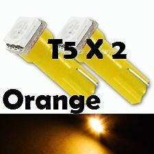 2 X T5 Super Orange SMD LED Side Wedge Park Bulb T5 T6.5 74 37  Holden Ford