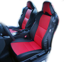 SCION FR-S 2013-2016 BLACK/RED IGGEE S.LEATHER CUSTOM FIT FRONT SEAT COVER