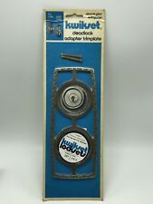 Vintage Kwikset Deadlock Adapter Doorplate Trim Rosette #267
