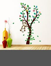 Cute monkey big tree wall decal sticker baby nursery boy girl home decor