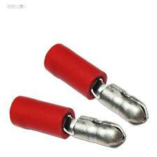 10 Rundstecker Steckverbinder rund für Kabel 0,5-1,5mm² ROT Crimp-Kabelschuhe