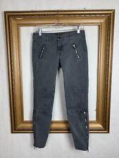J Brand 27 Agnes Jeans Vin Black Moto FEstival Grunge Skinny Gray Casual Club