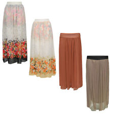 Full Length Polyester Formal Floral Skirts for Women