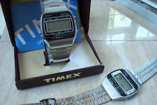 TWO TIMEX DIGITAL WATCHES & BOX ONE WORKING, ONE NOT WORKING c.EARLY 1980'S