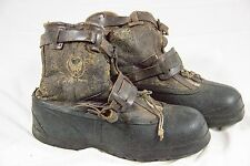 Vintage World War 2 II WW Bristolite A-6A Winter Flying Boots Leather Air Force