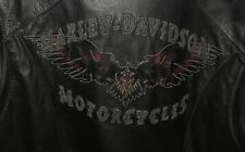 ⭐Women's Leather Harley Davidson Riding Jacket Super Wings  Size Medium