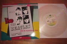 2 LP SET Limited edition in clear vinyl THE BEATLES LIVE IN AUSTRALIA 1964