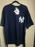 New with Tags Majestic NEW YORK YANKEES DEREK JETER Blue Tshirt Size 2x