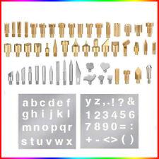 53 Tlg Lötspitzen Satz Brennstift Werkzeug für Holz Leder Gravieren Einbrennen