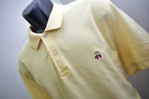 Brooks Brothers Golf Polo 1818 Orginal Fit Yellow Short Sleeve Mens Size XL