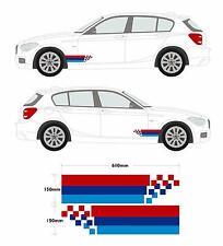 BMW Broken Stripe Set - M Style Car Decal Graphic 3 Series, 1 Series, 5 Series