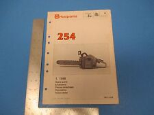 Vintage 1988 HUSQVARNA 254 Spare Parts Chainsaw Manual L064