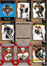 2007-08 OPC O-Pee-Chee Florida Panthers Complete Team Set w/ Foil CL (20)