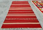 Hand Knotted Vintage Morocco Sumouk Kilm Wool Area Rug 5 x 3 Ft (10117 KBN)