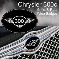 Chrysler 300c 300 ala placa de logotipo Rejilla & ala trasera emblemas