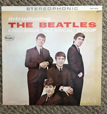 INTRODUCING THE BEATLES VINYL LP VEEJAY RECORDS PRESSING BRACKETS GEORGE SHADOW