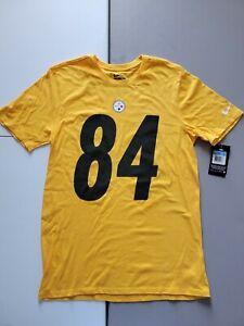 Nike Athletic Cut Nfl Pittsburgh Steelers Antonio Brown #84 Shirt Mens Size M