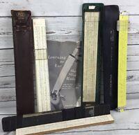 Slide Rule Pickett Post Keuffel & Esser Control Data Lot Of 4 Vintage