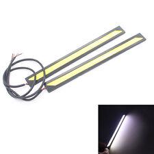 2X White COB LED Daytime Running Lights DRL Fog Driving Lamp 12V Waterproof