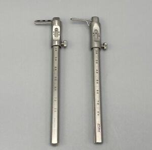 Sliding Gauge Caliper Krekeler Straight Curved Dental Implant Surgical 0-80mm