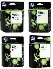 Genuine HP 940XL Black & Color Toner Set of 4 C4906AN C4907AN C4908AN C4909AN