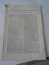 1908 Londres au Temps Jadis jeux et vieilles coutumes