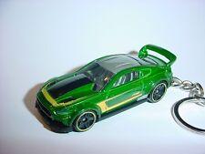 HOT 3D GREEN 2015 FORD MUSTANG GT CUSTOM KEYCHAIN keyring key gt RACE roush
