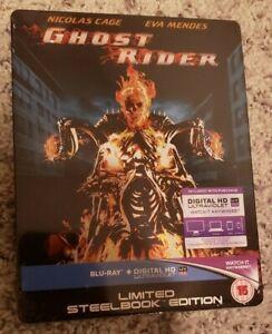 GHOST RIDER Blu-ray Steelbook Debossed Embossed Region-Free Import Marvel