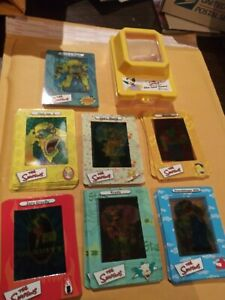 THE SIMPSONS FILM CARDZ COMPLETE (45) CARD SET MINT WITH FREE VIEWER