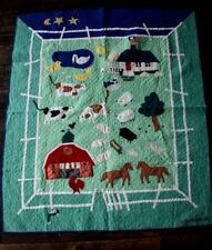 Vintage 1992 Judi Boisson Applique Farm Scene Old MacDonald Baby Child Quilt
