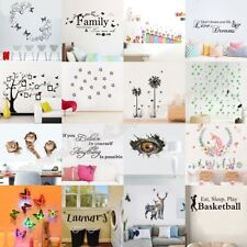 Wall Stickers Removable Art Vinyl Quote Decal Mural Home Room DIY Decor Windows