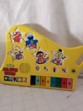 Tested Working Sesame Street All Star Band Piano Musical Toddler Toy 1991 Golden