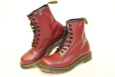 Dr Doc Martens NEW Womens 8 39 Red Leather 8-Eye Combat Ankle Boots 11821 awv