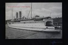 alte AK Trajektschiff Preussen im Hafen Sassnitz 1913