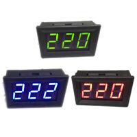 AC 70-500V digital voltmeter LED display 2 wire volt voltage test meter 3C