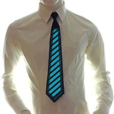 Geräuschaktivierte Party-Krawatte LED Licht Schlips Partykrawatte Festival Leuch