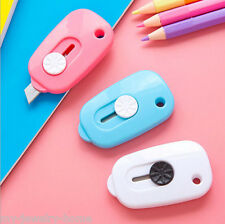 2 Pcs Best Small Safe Utility Knife Mini Paper Knvies Hand Tools Cute Keys Style