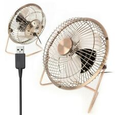 "4"" USB Fan Portable Cooling Desktop Quiet Brass Fan For Computer Laptop PC Tool"