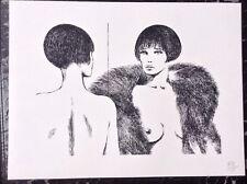 Crepax PRINT Limited Edition Pinup Lesbian Art Valentina Nude Erotic Gay Women