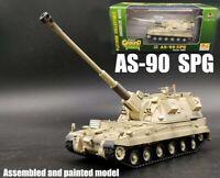 British AS-90 SPG Self Propelled Gun Tank Rare Desert painting 1:72 Easy Model