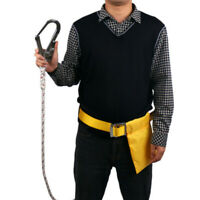 Aerial Construction Fall Protection Waist Safety Belt Harness Lanyard Hook