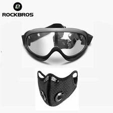 RockBros Anti-niebla Gafas Gafas de protección completamente sellada & Máscara Facial Con Filtro