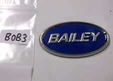 Bailey raised oval self adhesive badge for caravan dent cover ups BOB3
