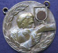 Vintage metal token medal  SHOOTING SOLDIER Engraver PAUL kramer Nauchatel