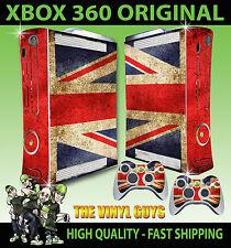 XBOX 360 Bandiera Union Jack Grunge console Adesivo Skin NUOVI E 2 SKIN Pad