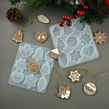 Christmas Pendant Hanging Tag Silicone Jewelry Casting Mold Resin Epoxy Mould 3D