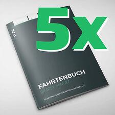 5er Pack - Type 7 Premium-Fahrtenbuch, DIN A5, 60 Seiten, für Finanzamt geeignet